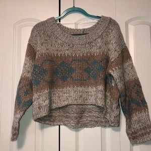Free People cropped cable knit